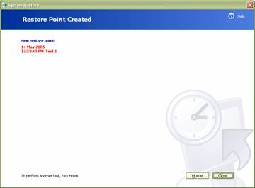fig 3 restore point created